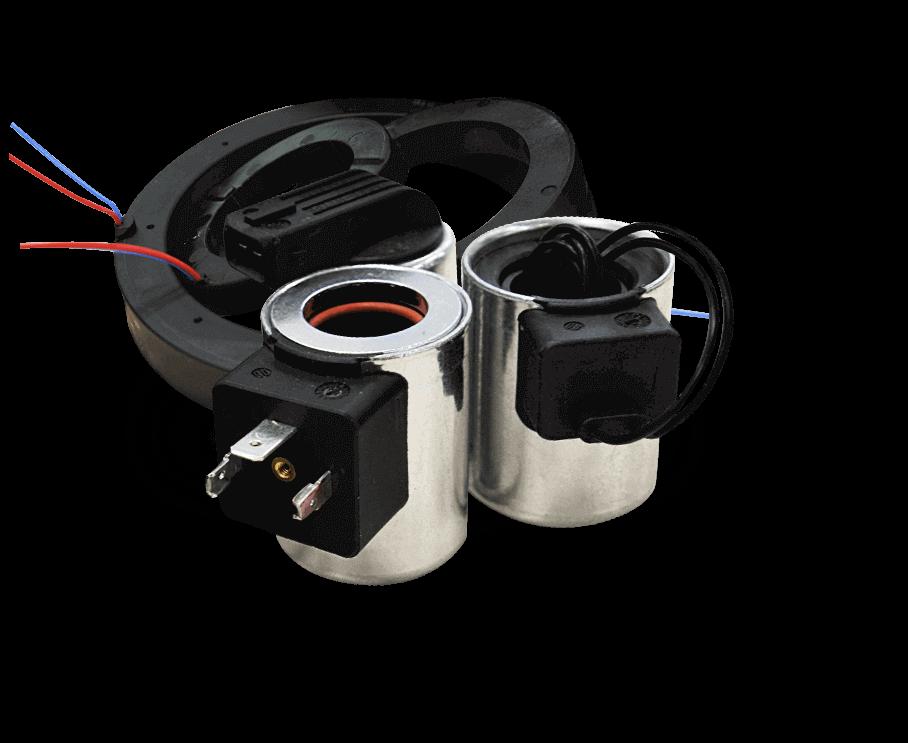 Navíjení a výroba cívek elektromagnetů pro ventily hydraulické brzdy, spojky, bloky